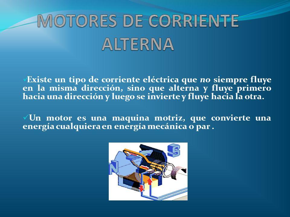 Existe un tipo de corriente eléctrica que no siempre fluye en la misma dirección, sino que alterna y fluye primero hacia una dirección y luego se invi