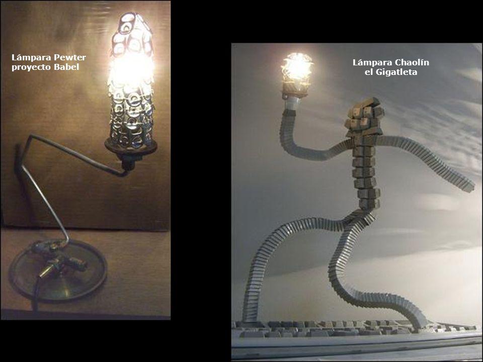 Lámpara Chaolín el Gigatleta Lámpara Pewter proyecto Babel