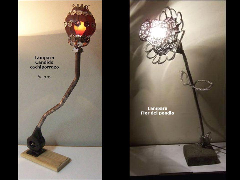Lámpara Cándido cachiporrazo Aceros Lámpara Flor del pondio