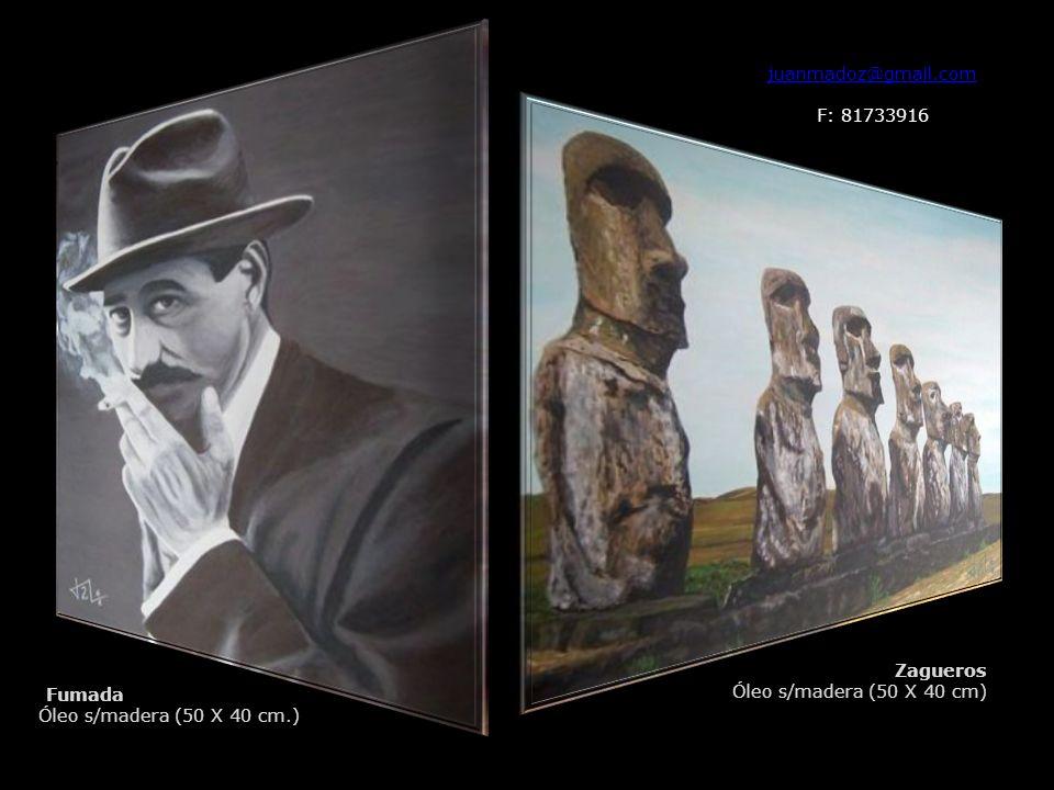 juanmadoz@gmail.com F: 81733916 Fumada Óleo s/madera (50 X 40 cm.) Zagueros Óleo s/madera (50 X 40 cm)