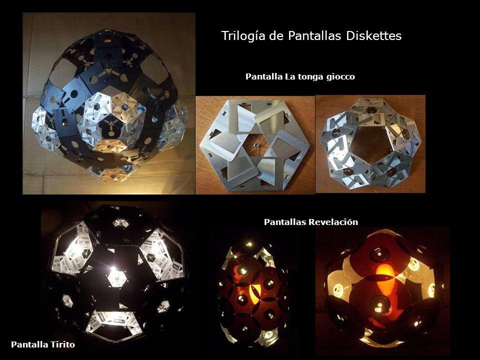 Trilogía de Pantallas Diskettes Pantalla La tonga giocco Pantalla Tirito Pantallas Revelación