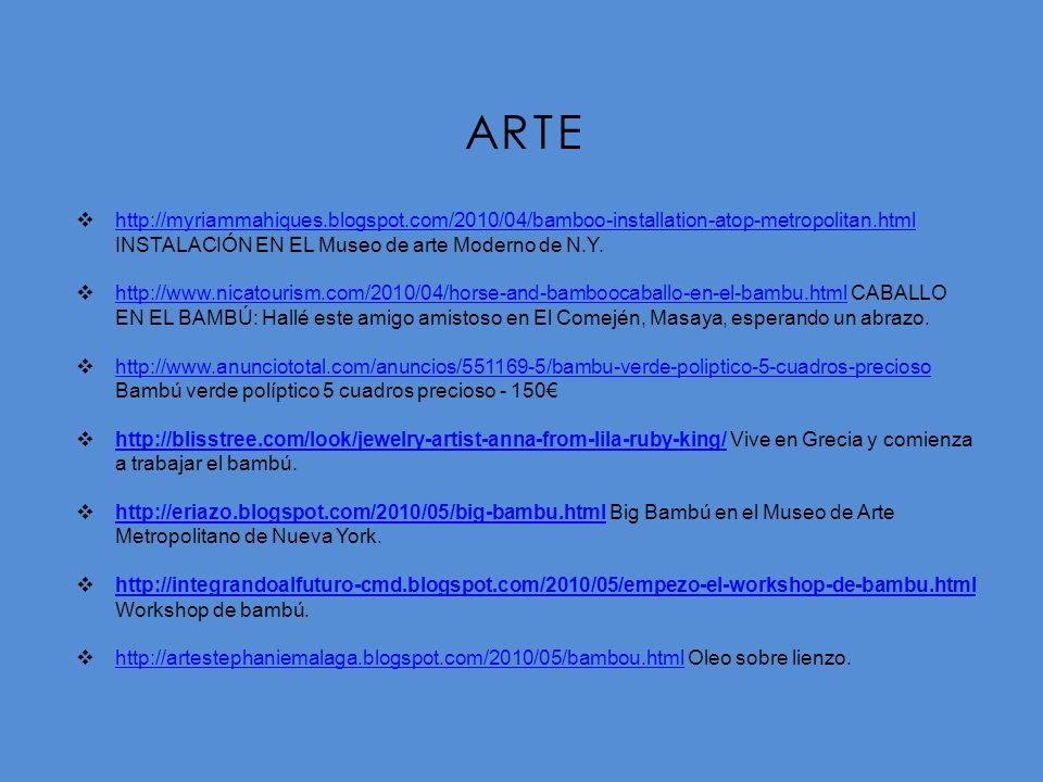ARTE http://myriammahiques.blogspot.com/2010/04/bamboo-installation-atop-metropolitan.html INSTALACIÓN EN EL Museo de arte Moderno de N.Y.