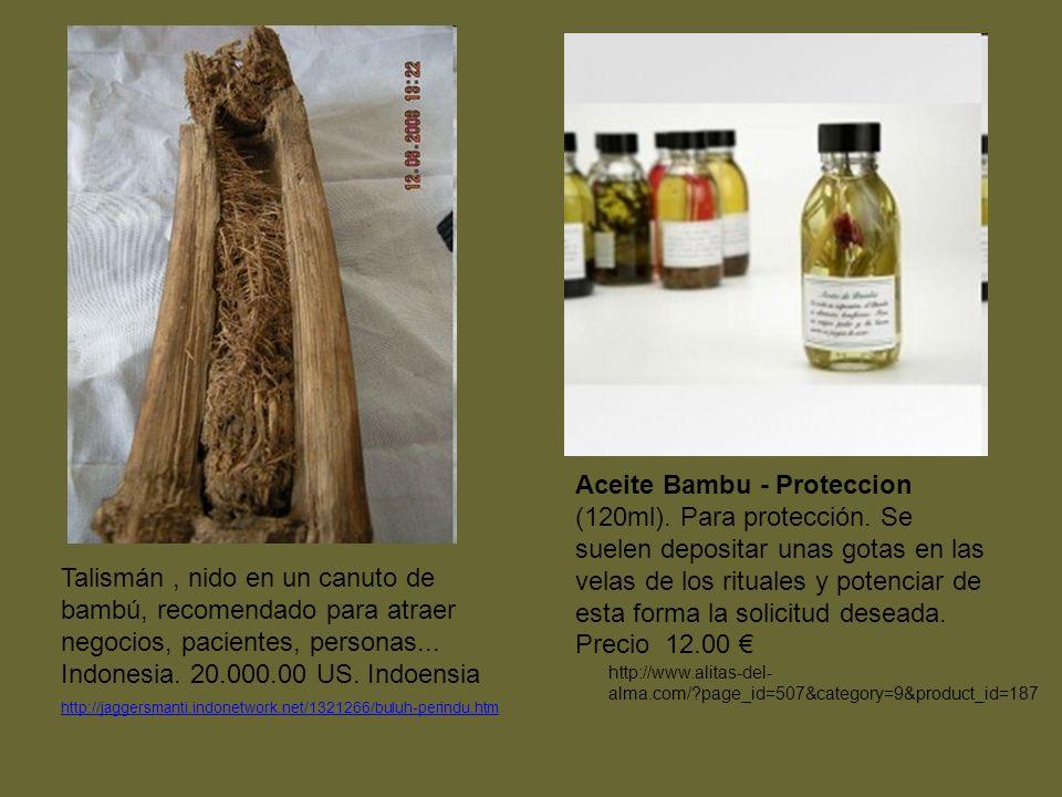 Talismán, nido en un canuto de bambú, recomendado para atraer negocios, pacientes, personas...