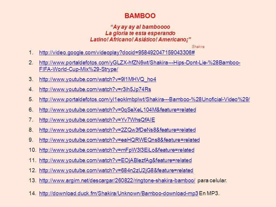 BAMBOO Ay ay ay al bamboooo La gloria te esta esperando Latino.
