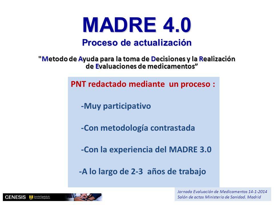 MADRE 4.0 Proceso de actualización