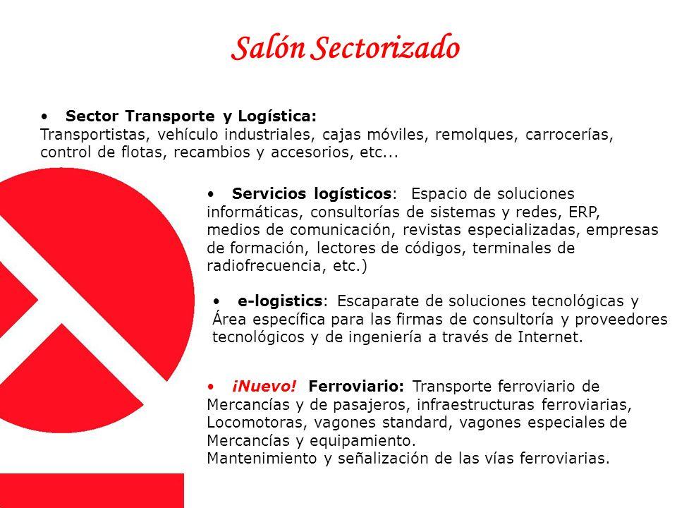 Sector Transporte y Logística: Transportistas, vehículo industriales, cajas móviles, remolques, carrocerías, control de flotas, recambios y accesorios, etc...