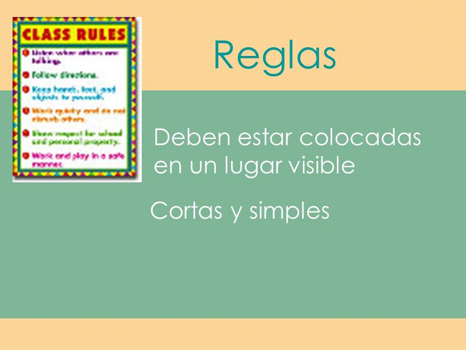 Reglas Las reglas se aplican a áreas tales como interacciones en el salón de clase, respeto por los demás y su propiedad, y la participación en clase.