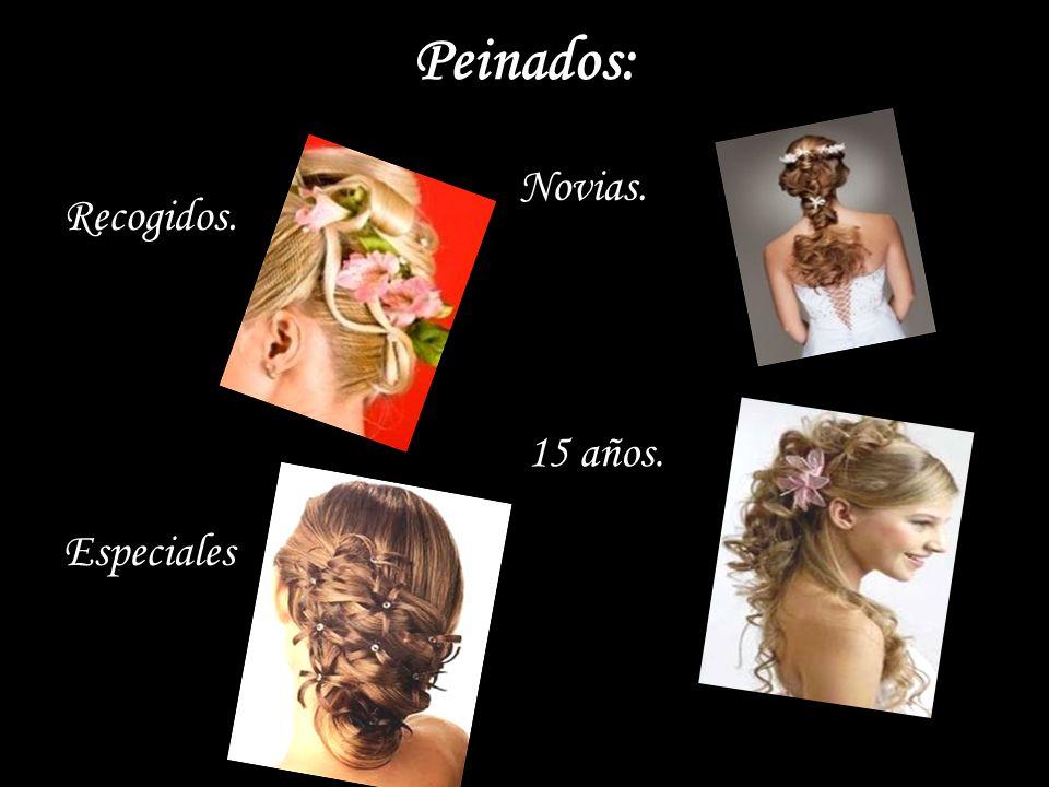 Peinados: Recogidos. Especiales Novias. 15 años.