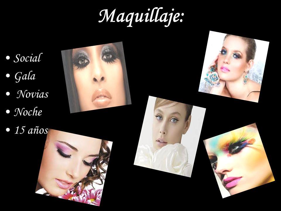 Maquillaje: Social Gala Novias Noche 15 años