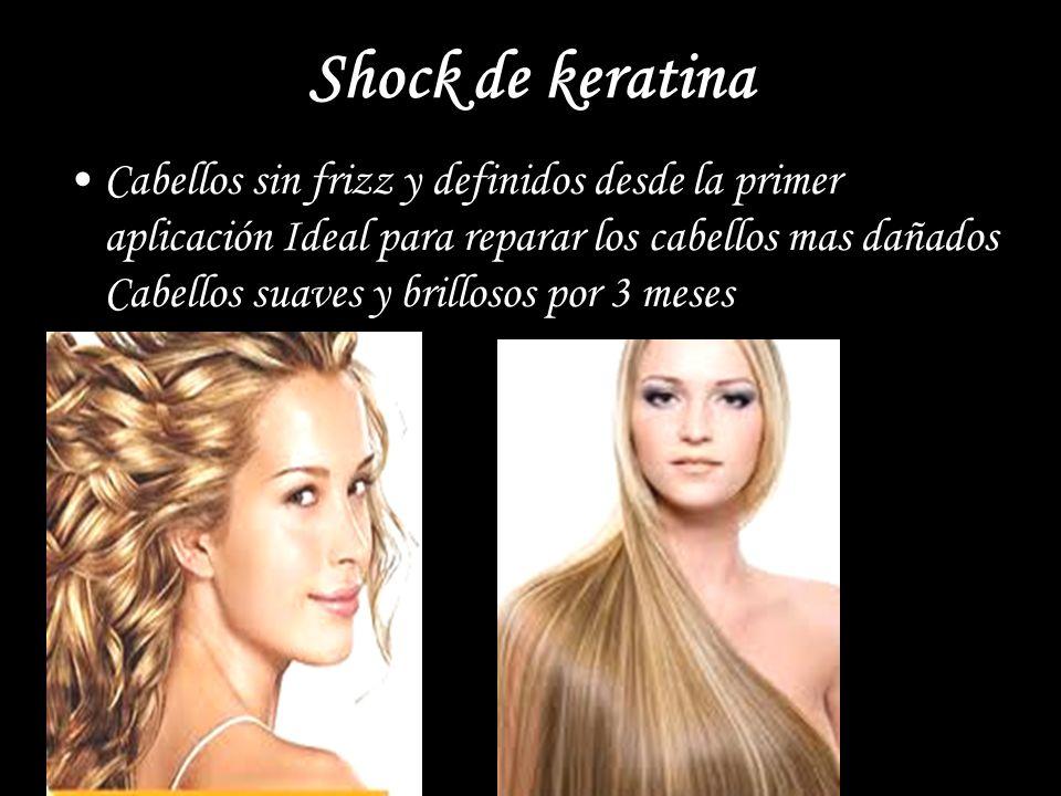 Shock de keratina Cabellos sin frizz y definidos desde la primer aplicación Ideal para reparar los cabellos mas dañados Cabellos suaves y brillosos po