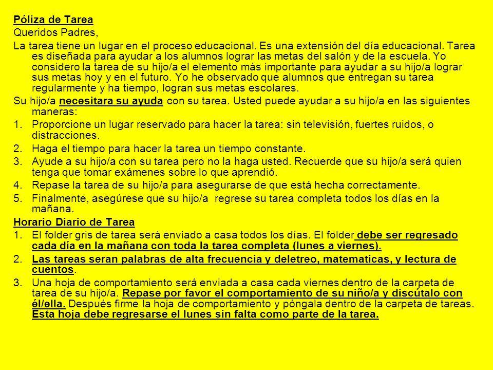 Explicaciones de Tarea - Salón 28 1.Matemáticas – Cada día su hijo/a recibirá dos páginas con actividades de matemáticas.