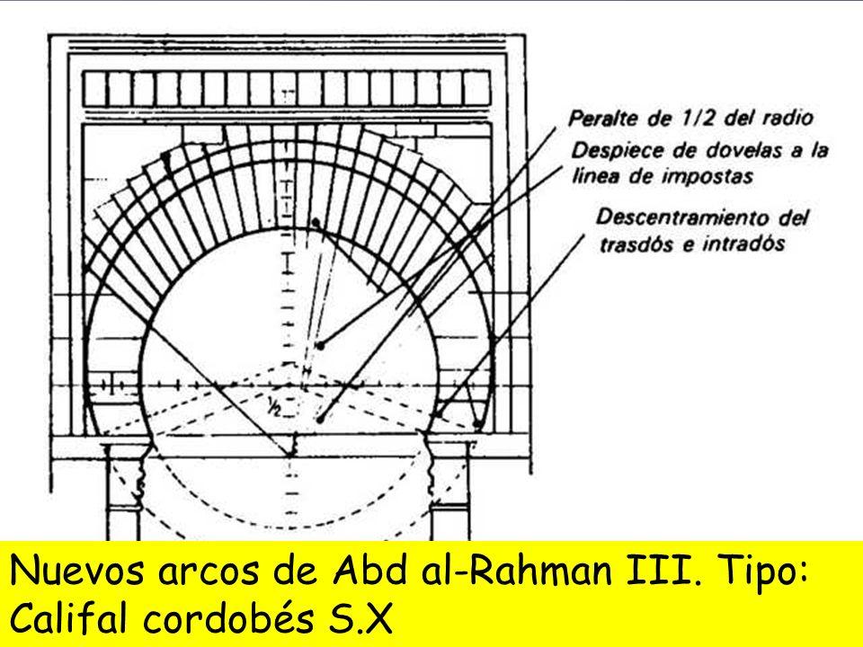 Nuevos arcos de Abd al-Rahman III. Tipo: Califal cordobés S.X