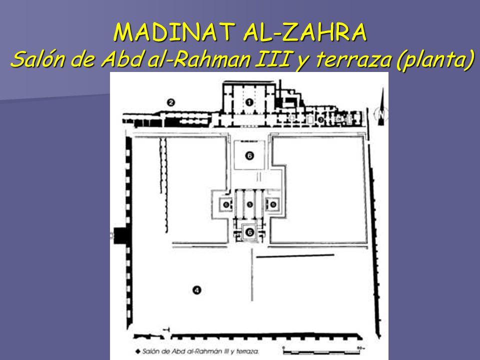 MADINAT AL-ZAHRA Salón de Abd al-Rahman III y terraza (planta)