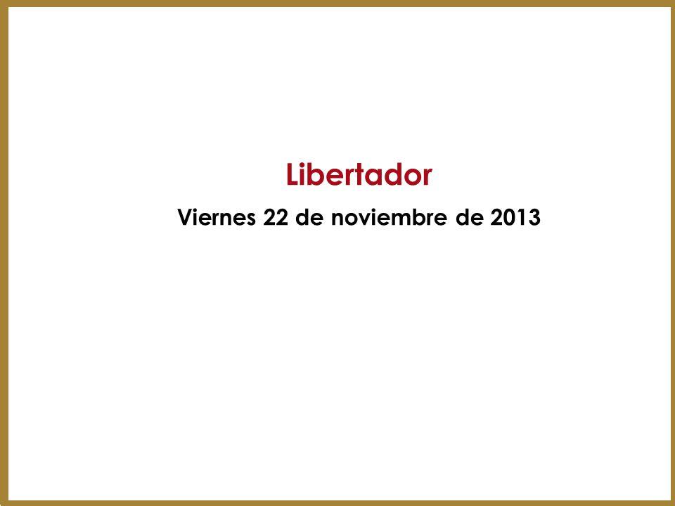 Libertador Viernes 22 de noviembre de 2013