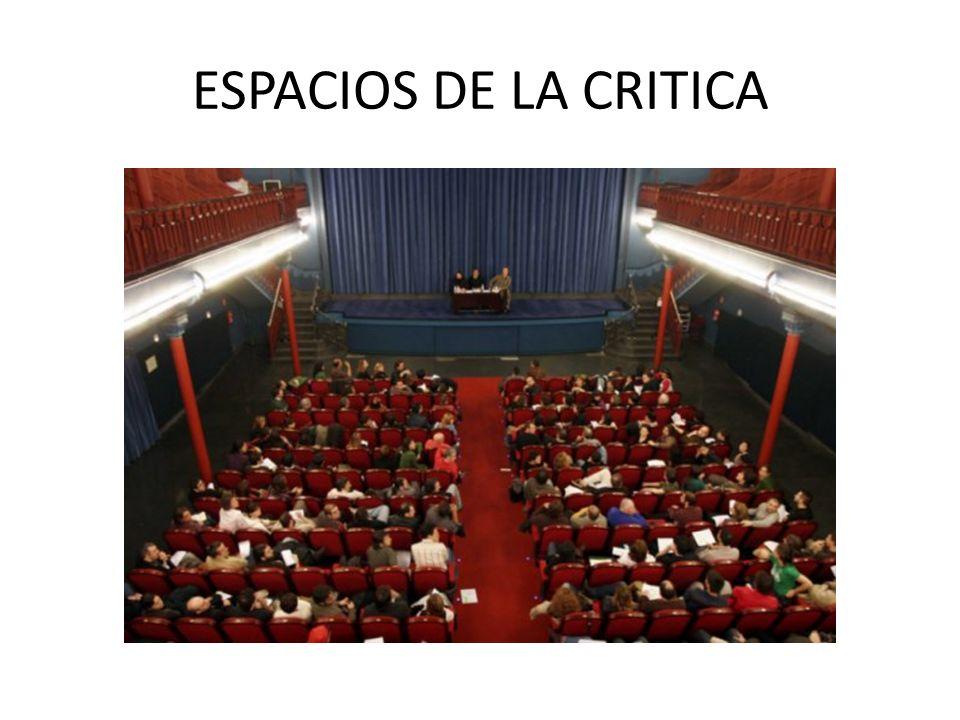 ESPACIOS DE LA CRITICA