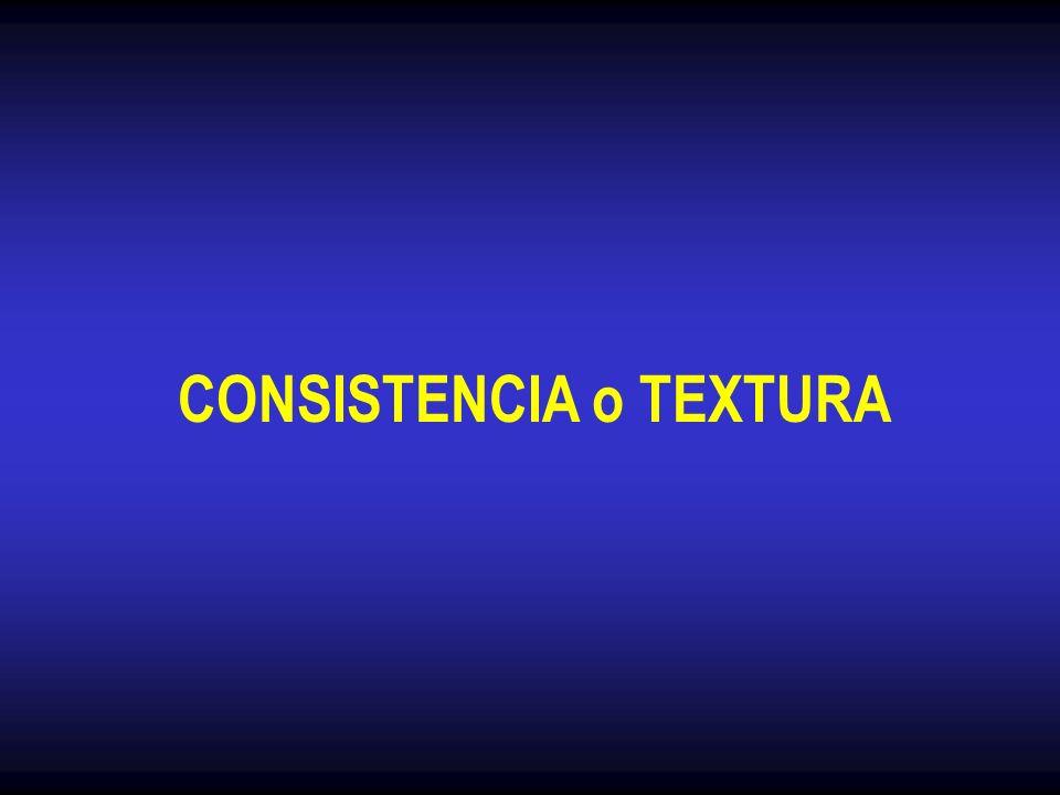 CONSISTENCIA o TEXTURA