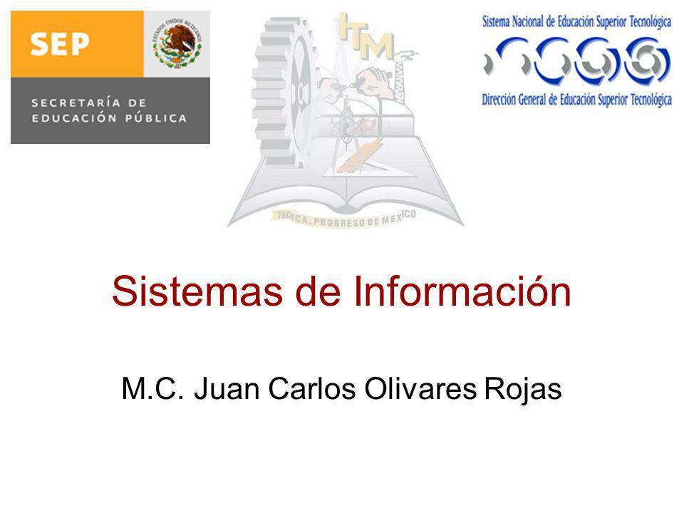 Sistemas de Información M.C. Juan Carlos Olivares Rojas