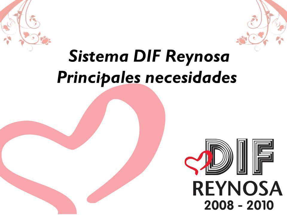 Visión del Sistema DIF Reynosa: Trabajar en forma coordinada con los diversos sectores y organizaciones Estatales y Municipales para crear una cultura solidaria en beneficio de los más desprotegidos.