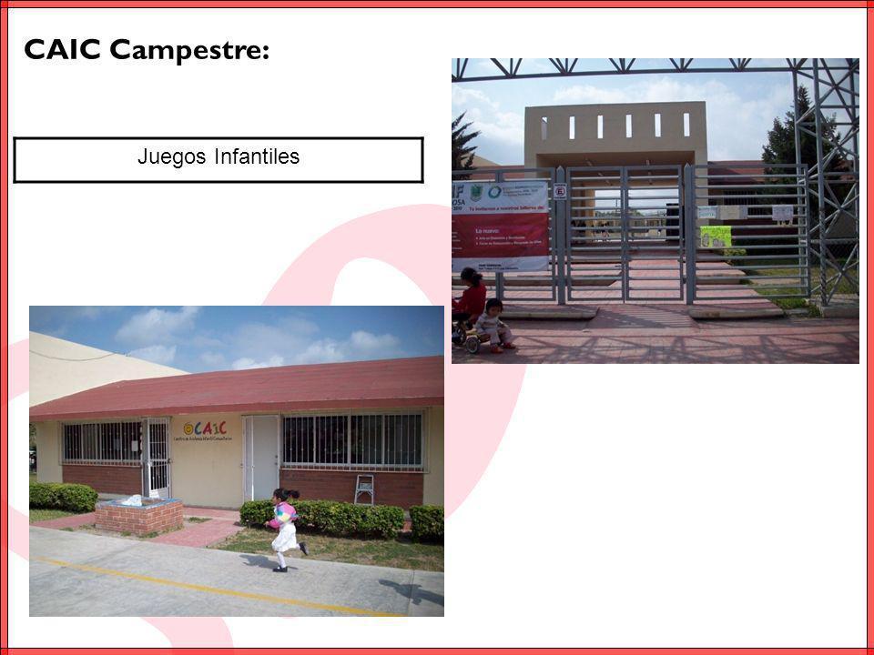 CAIC Riveras del Carmen: Juegos Infantiles Desayunador y Equipamiento (refrigerador, parrilla, tanque de gas y fregadero) Servicios Sanitarios