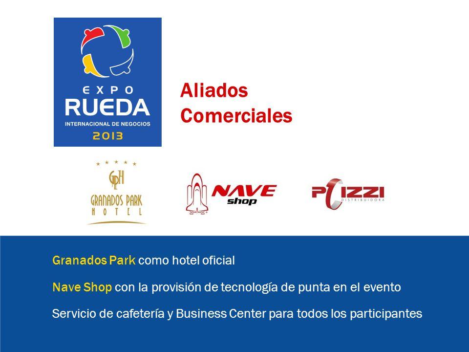Aliados Comerciales Granados Park como hotel oficial Nave Shop con la provisión de tecnología de punta en el evento Servicio de cafetería y Business Center para todos los participantes