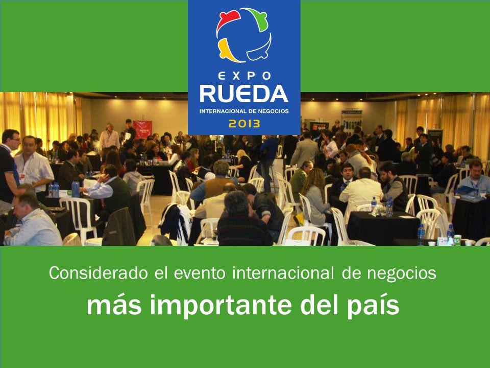 Considerado el evento internacional de negocios más importante del país
