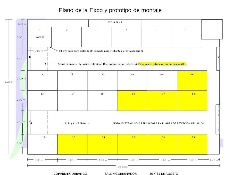 Plano de la Expo y prototipo de montaje