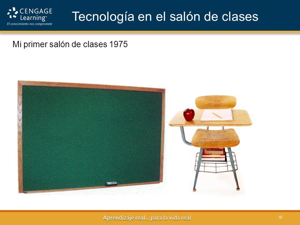 15 Mi primer salón de clases 1975 Tecnología en el salón de clases