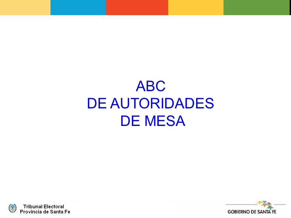 ABC DE AUTORIDADES DE MESA