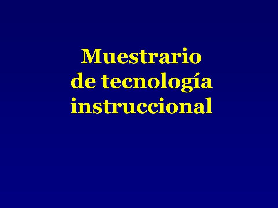 Muestrario de tecnología instruccional