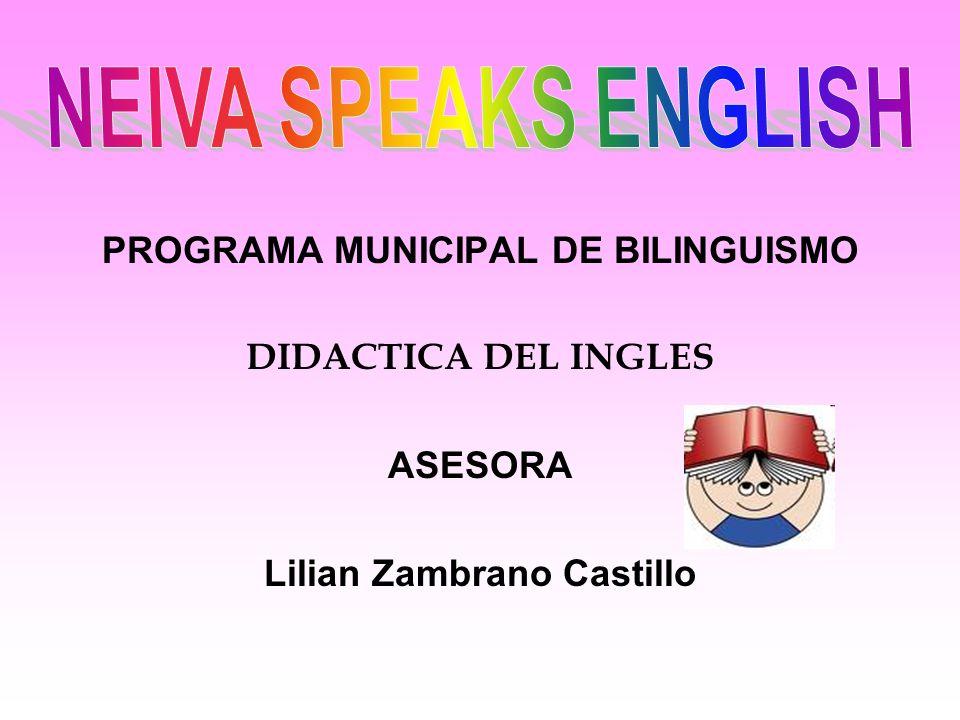 NEIVA SPEAKS ENGLISH DIDACTICA DEL INGLÉS TALLER No.