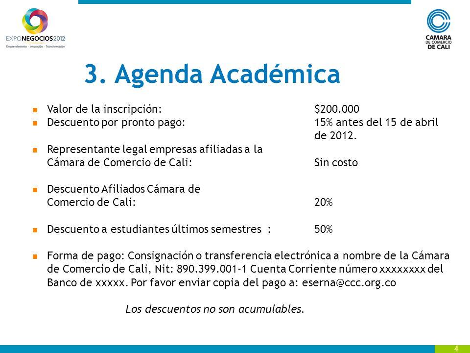 15 Gorros Sillas Agenda Académica Valor de la Inversión.
