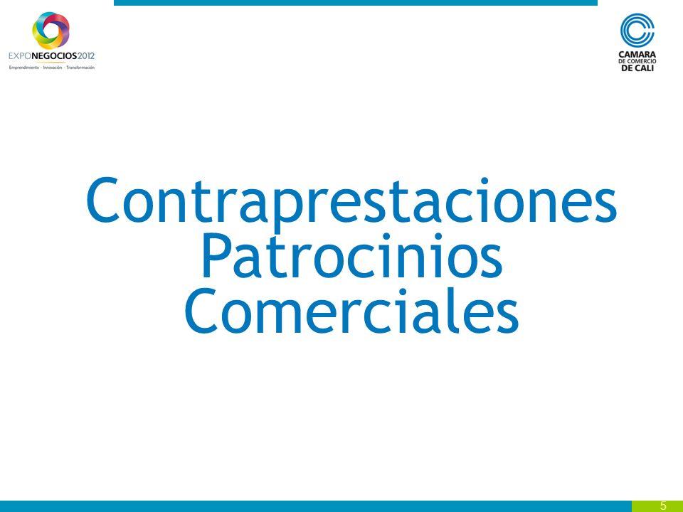 6 Gran Patrocinador Inversión: $50 millones Contraprestación Logo en el backing de bienvenida ubicado en la entrada Mañanitas.