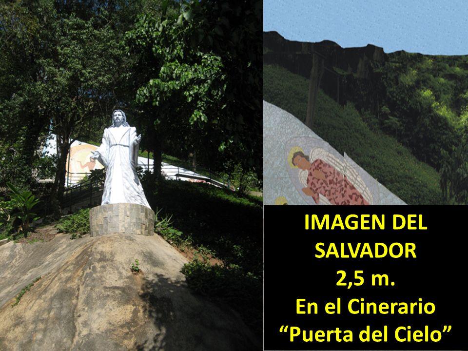IMAGEN DEL SALVADOR 2,5 m. En el Cinerario Puerta del Cielo