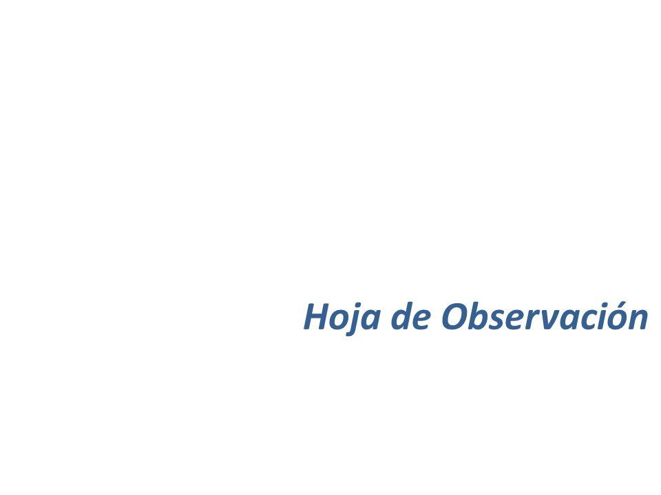Hoja de Observación