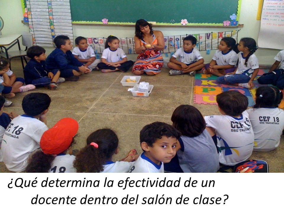 ¿Qué determina la efectividad de un docente dentro del salón de clase?