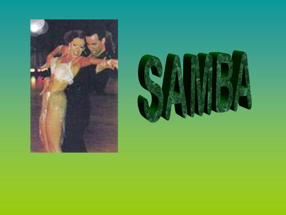 Danza popular y forma musical brasileña de origen africano que se ha hecho mundialmente famosa por el carnaval de Río de Janeiro.