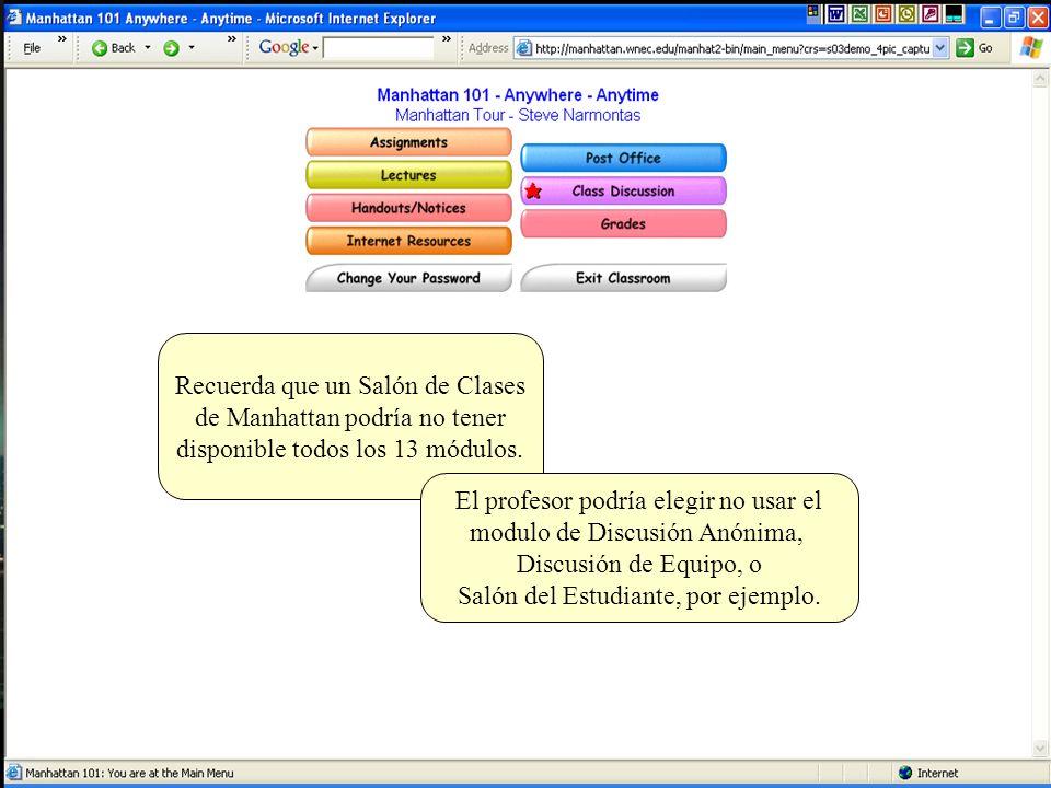Discusión de la Clase es un ejemplo de un foro de discusión.