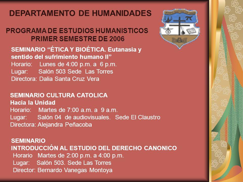 SEMINARIO HISTORIA DE LA FILOSOFÍA MODERNA La construcción de la identidad moderna Horario: Miércoles de 4:00 p.m.