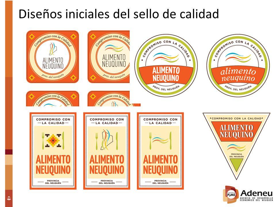 Diseños iniciales del sello de calidad