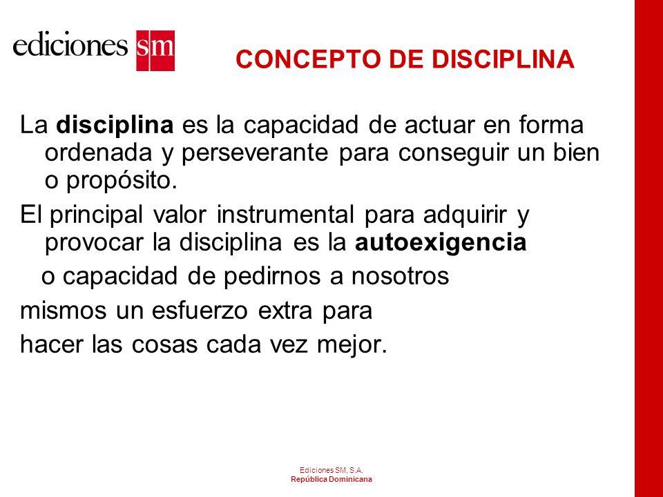 CONCEPTOS Los conceptos propiamente dichos de disciplina en el aula no existen. Lo que existe teorías sobre como mejorar la atención de los estudiante