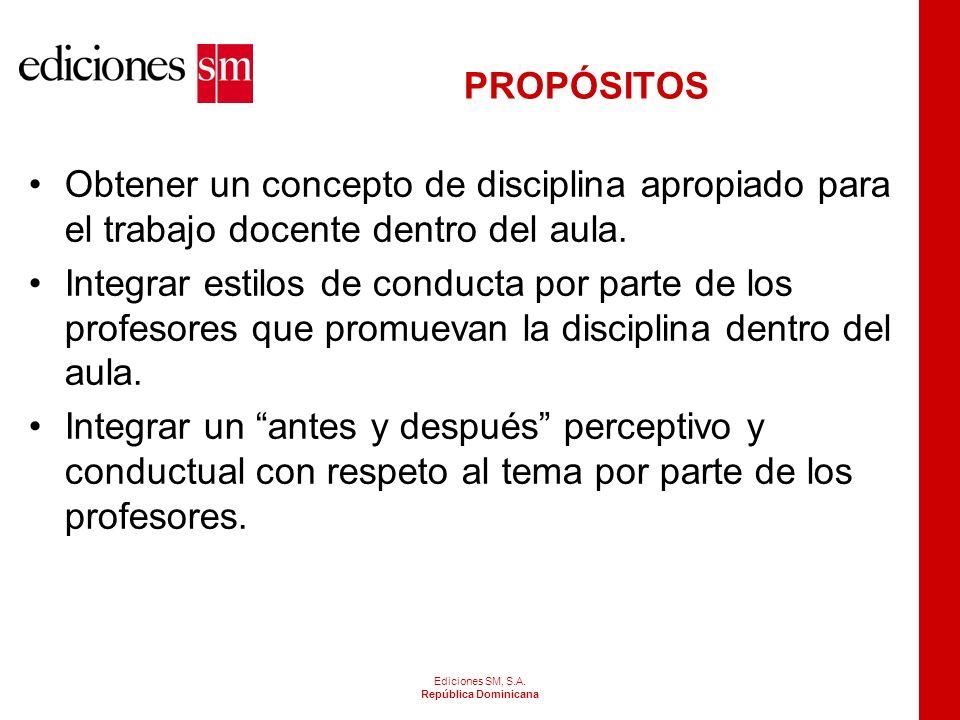 ELEMENTOS ASOCIADOS A LA INDISCIPLINA EN EL AULA Ediciones SM, S.A.