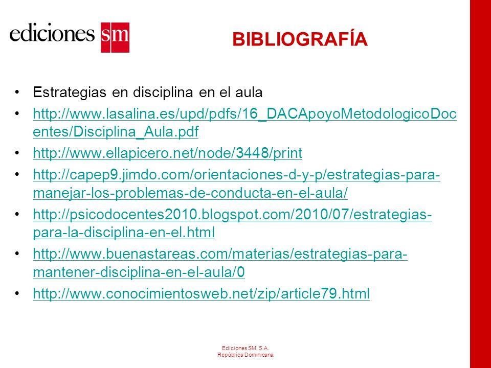 BIBLIOGRAFÍA Otros portales http://www.slideshare.net/fridaazul/disciplina-4663418 http://www.slideshare.net/anam862001/taller-disciplina-con- amor-pr