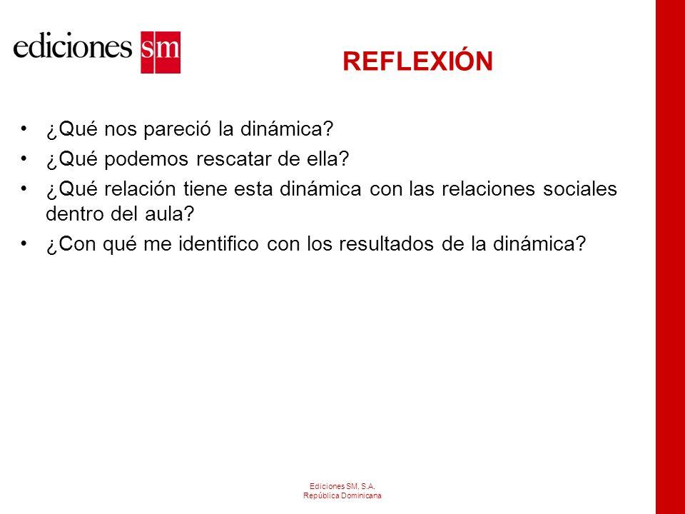 Ediciones SM, S.A.República Dominicana REGLAS DE COMUNICACIÓN PARA LA DISCIPLINA EFECTIVA: 18.