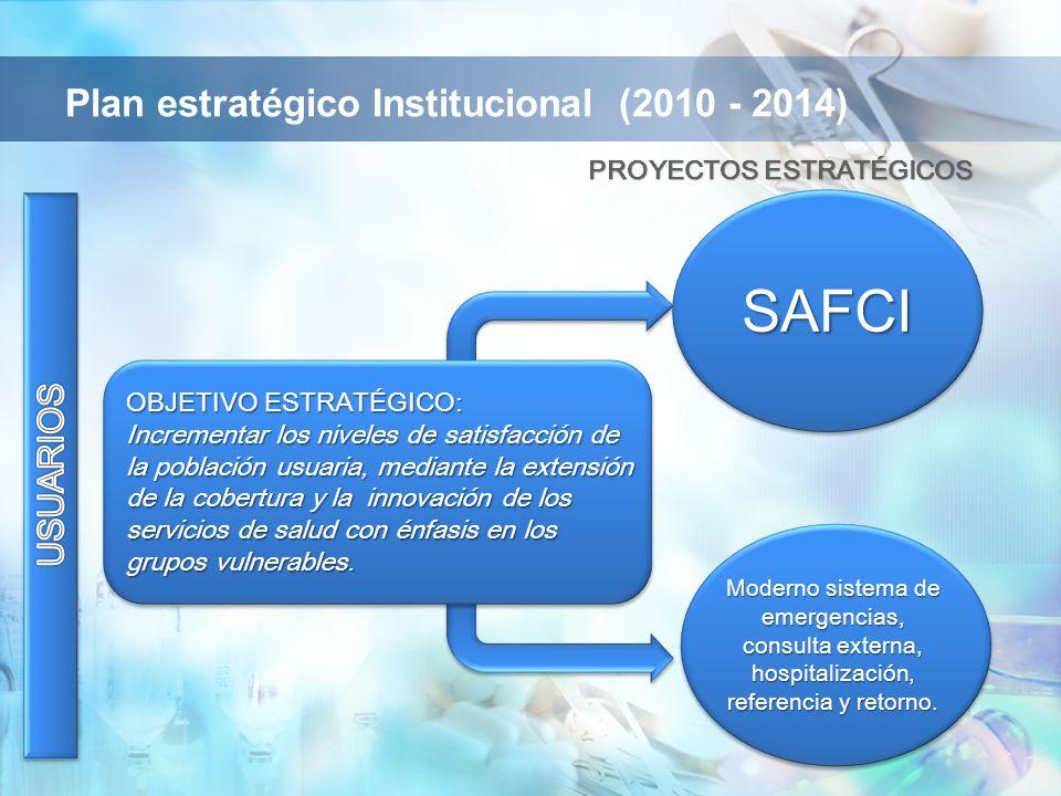 OBJETIVO ESTRATÉGICO: Incrementar los niveles de satisfacción de la población usuaria, mediante la extensión de la cobertura y la innovación de los se