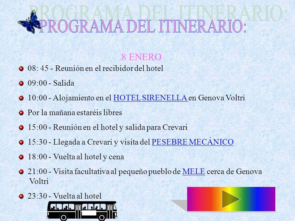 10.00 a.m. - Reunión en la estación de trenes de Rapallo 10.30 a.m.