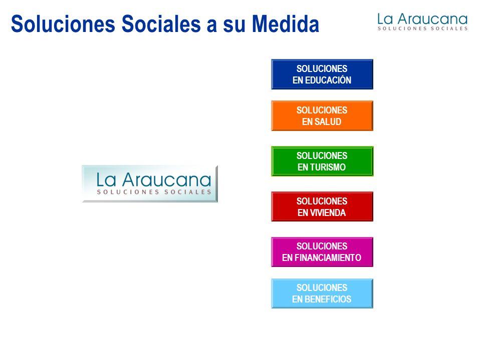 Soluciones Sociales a su Medida SOLUCIONES EN EDUCACIÓN SOLUCIONES EN SALUD SOLUCIONES EN TURISMO SOLUCIONES EN VIVIENDA SOLUCIONES EN FINANCIAMIENTO SOLUCIONES EN BENEFICIOS