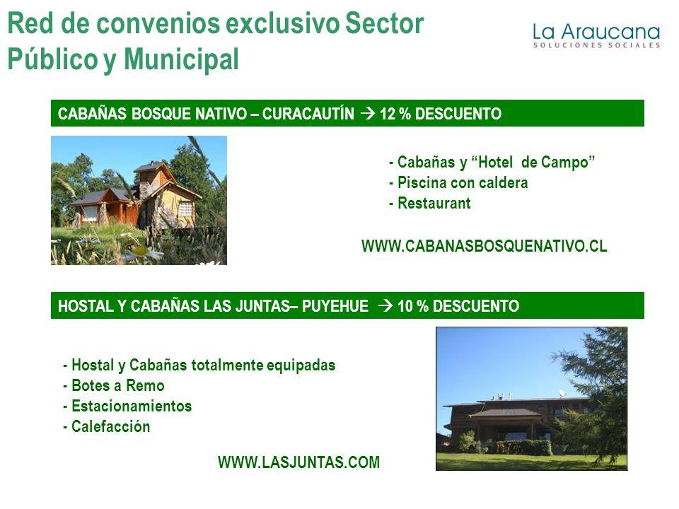 WWW.CABANASBOSQUENATIVO.CL - Cabañas y Hotel de Campo - Piscina con caldera - Restaurant CABAÑAS BOSQUE NATIVO – CURACAUTÍN 12 % DESCUENTO HOSTAL Y CA