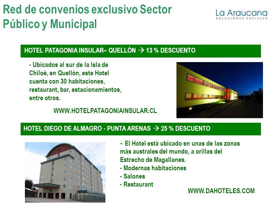 HOTEL PATAGONIA INSULAR– QUELLÓN 13 % DESCUENTO - Ubicados al sur de la Isla de Chiloé, en Quellón, este Hotel cuenta con 30 habitaciones, restaurant,