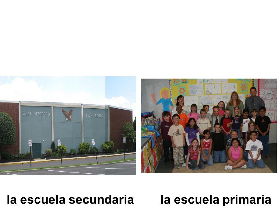 la escuela secundariala escuela primaria