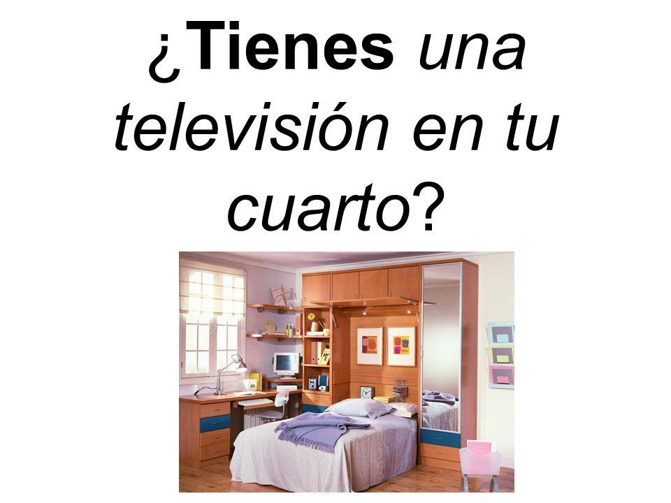 ¿Tienes una televisión en tu cuarto?